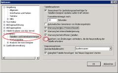 SQL 2008 Management Studio Options Screenshot